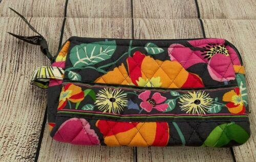 Vera Bradley Cosmetic Bag in Jazzy Blooms - Make-up Case - Floral, Pink/Orange