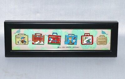 Peanuts Gang Enamel Pin Set Collectors Edition LE 1,000 Snoopy Charlie Lunch Box