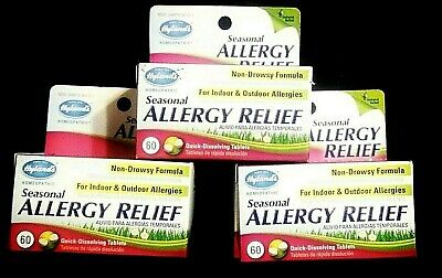 3 BOTTLES..HYLANDS..SEASONAL ALLERGY RELIEF..NON-DROWSY FORMULA..180 TABS TOTAL