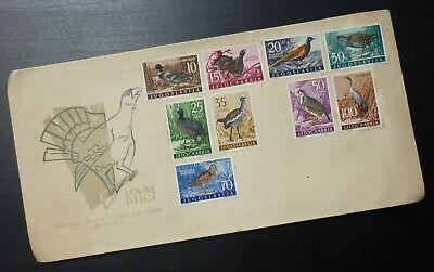 Yugoslavia 1958 - FD Cover -Fauna Bird Birds Hunting Hunt Pheasant Partridge A10
