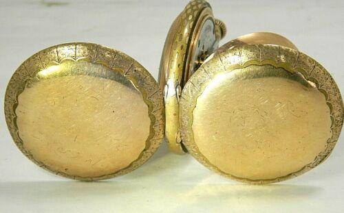 "Big Antique Chunky Waltham 18S Hunter Gold Filled Pocket Watch 2.4""D ,135g."