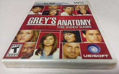 Grey's Anatomy: The Video Game (Nintendo Wii, 2009) NEW - Anatomy Games