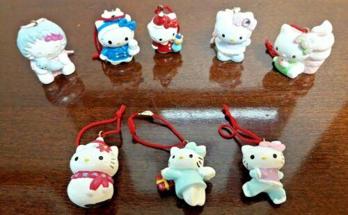 Sanrio Hello Kitty Christmas Holiday Miniature Ornament Ornaments Set Of 8