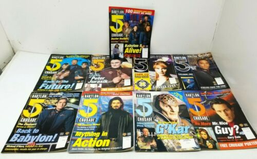 Lot of 9 Babylon 5 Official Monthly Magazine 1998-2000 #3 4 10 13 14 15 19 20 22