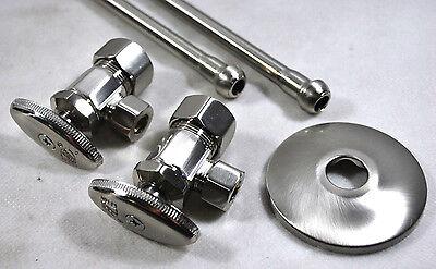 Jones S10-36BN Lavatory Supply Angle Kit (Brushed Nickel)