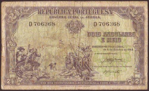 ANGOLA   2 1/2 Angolares 1948
