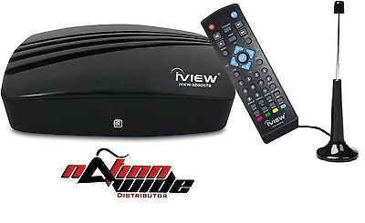 iView-3200STB-A HDTV DTV Digital Converter Box and Antenna with Media Player NEW