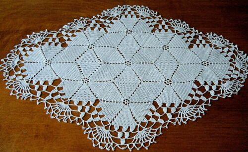 Antique large lace doily table dresser top hand crochet antique design.