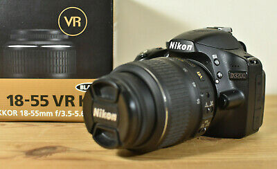 NIKON D3200 DSLR CAMERA KIT WITH NIKKOR LENS CHARGER BATTERY 16GB SD & MANUAL