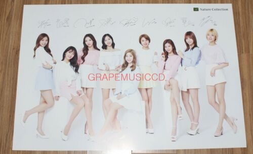 TWICE Nature Collection OFFICIAL GOODS 2 PROMO POSTER + STICKER NEW