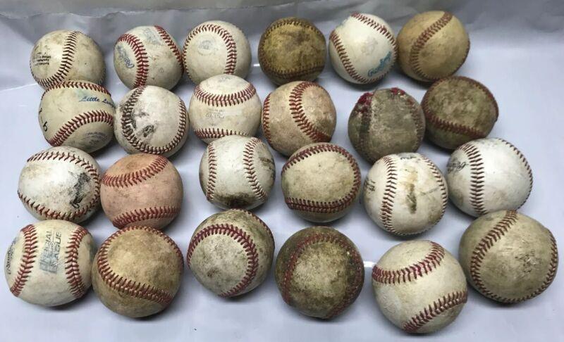 24 Leather Baseballs Batting Practice Rawlings Nike Official League Baseballs A