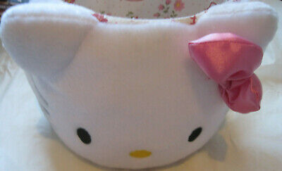 $~Hello Kitty Plush Lined Easter Candy Gift Basket w/Bow-Sanrio~LBDLR - Hello Kitty Easter Baskets