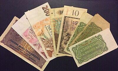 8 Czech Republic Banknotes 10 50 200 Korun 5 10 Desat 1961 1996 Czechoslovakia