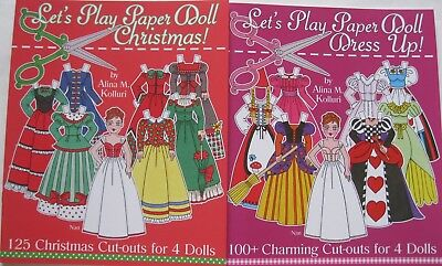 SPECIAL OFFER! 2 Paper Doll Books: LET'S PLAY PAPER DOLL DRESS UP! & CHRISTMAS