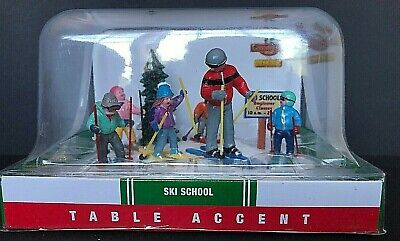 LEMAX CHRISTMAS VILLAGE TABLE TOP ACCENT SKI SCHOOL  2013 * NEW * ()