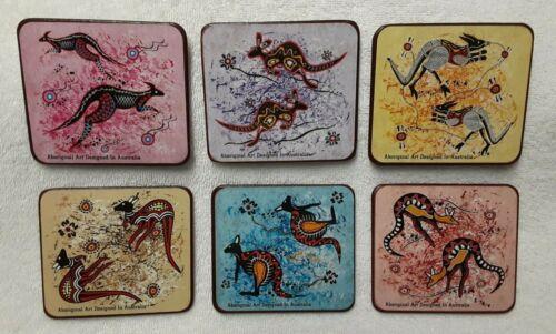 Set of 6 AUSTRALIA - Aboriginal Art Designed drink coasters - NEW IN BOX
