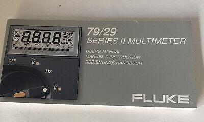 Fluke Series 2 Multimeter Users Manual 7929
