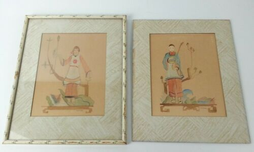 Antique Oriental Japanese Chinese Water Color Marcae
