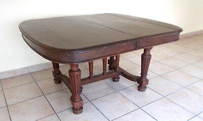 Tisch Gründerzeit sehr groß Jagdtisch Nußbaum Frankreich um 1880 Oval Esstisch