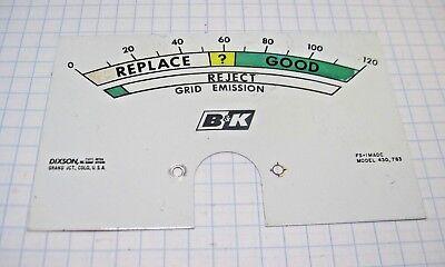 Dyna Jet 600 Tube Tester Meter Dial P.