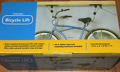 New Bicycle Bike Brand Lift Hoist-Ceiling Bicycle Hanger Pulley System # 95803