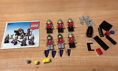 LEGO vintage castle 677 Knight's Procession complet avec instructions en bon éta
