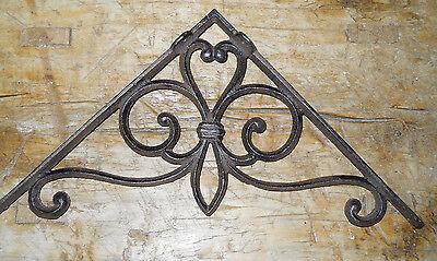 6 Cast Iron Antique Style Large VICTORIAN Brackets Garden Braces Shelf Bracket