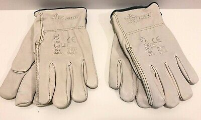 2 - Artic Freeze Cowhide Leather Work Gloves Medium