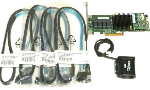 Adaptec ASR 71605 1GB 16Port HBA RAID PCIe Controller Card w/ Battery 4x Cables