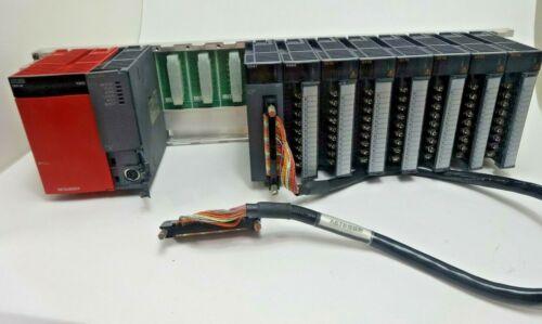 MITSUBISHI MELSEC Q61P-A1 PLC PROCESSOR W/Q02CPU, QX41, QX40, QY10 (6PCS)