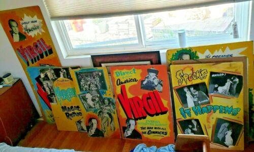 15x Antique Vintage Original Magic Props Poster Virgil Magician Collectibles