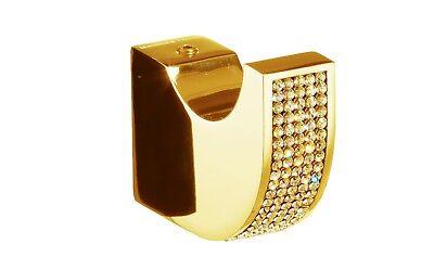 - Cecilia towel hook robe hook Polished Gold / Gold Swarovski® crystals inlaid