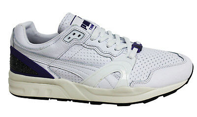 Puma Trinomic XT2+ Lace Up White Leather Mens Trainers 357774 03 B18C