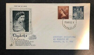 Niue 1953 Coronation FDC First Day cover