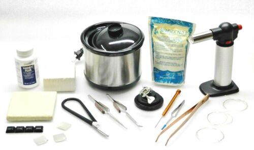 Set Jewelry Soldering Kit Torch Pickle Pot Tools Solder Supplies Repair Jewelry