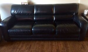 Black Leather Sofa / Couch
