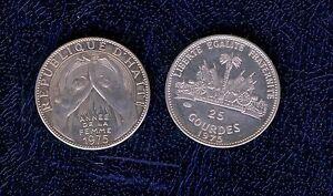 HAITI-25-GOURDES-1975-ARGENTO-034-ANEE-DE-LA-FEMME-034-ANNO-DELLA-DONNA-FS-mrm