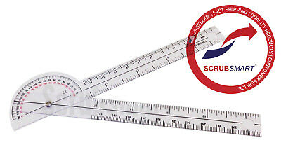 Us Seller Brand New 6 180 Degree Protractor Goniometer Fits Nicely In Pocket
