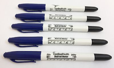 5 Tattoo Piercing Dual-tip Surgical Skin Marker W Ruler From Cardinal Health