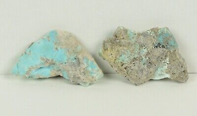 Raw Rough Cabochon Specimen of Morenci Turquoise 57.5 ct