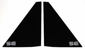 PONTIAC FIERO NEW REAR SAIL PANEL QUARTER NOTCHBACK COUPE WINDOW SET SE