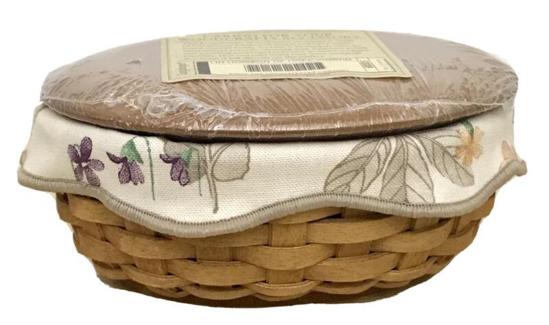Longaberger Horizon of Hope Basket 2003, Botanical Fields Liner, WoodCrafts Lid