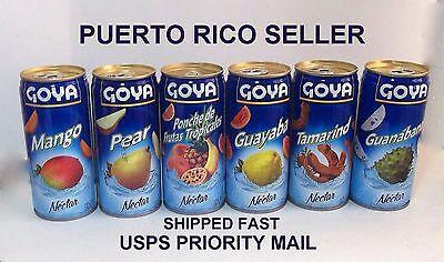 Goya Fruit Jugo Nectar Juice Puerto Rico Refresco Cold Drink Beverage Food 12can
