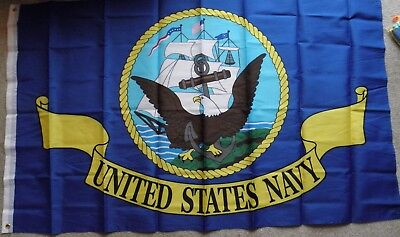 USN US NAVY POLYESTER FLAG 3 X 5 FEET