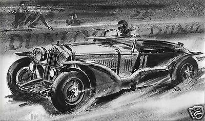 ALFA ROMEO 8C LE MANS 1933 SHOWROOM PHOTOGRAPH ADVERTISING UNIT DUNLOP NO17089