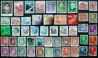 NORWAY: COLLECTION OF 50 USED STAMPS
