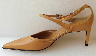 Ankle strap shoes size 6 Strappy heels Pointed toes Spanish Leather soles LOLA