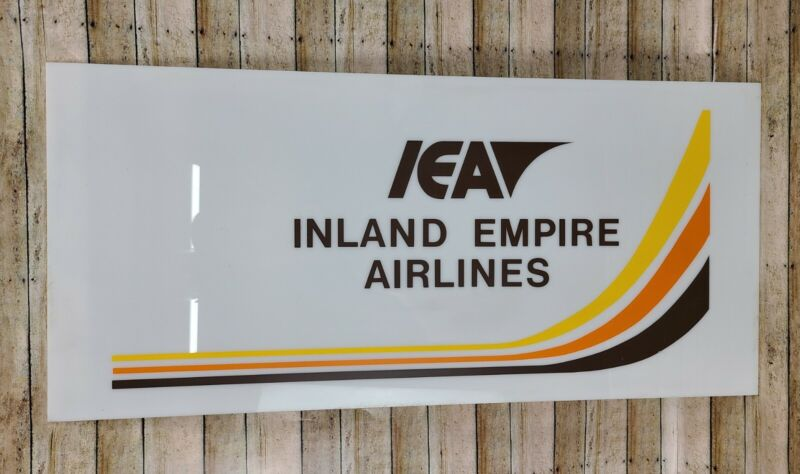 Vintage Inland Empire Airlines Acrylic Sign