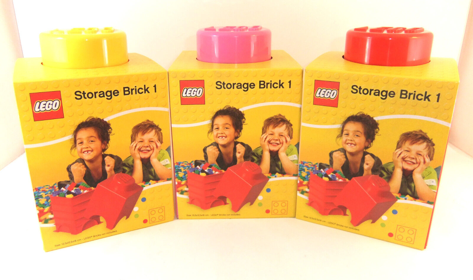 LEGO STORAGE BRICK 1 STUD LUNCH BOX NEW 3 COLOURS SHIP WORLD