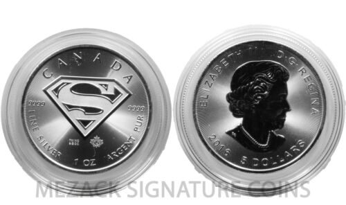 SUPERMAN - 2016 $5 Canadian 1 oz 9999 Silver in capsule (Free Shipping!)